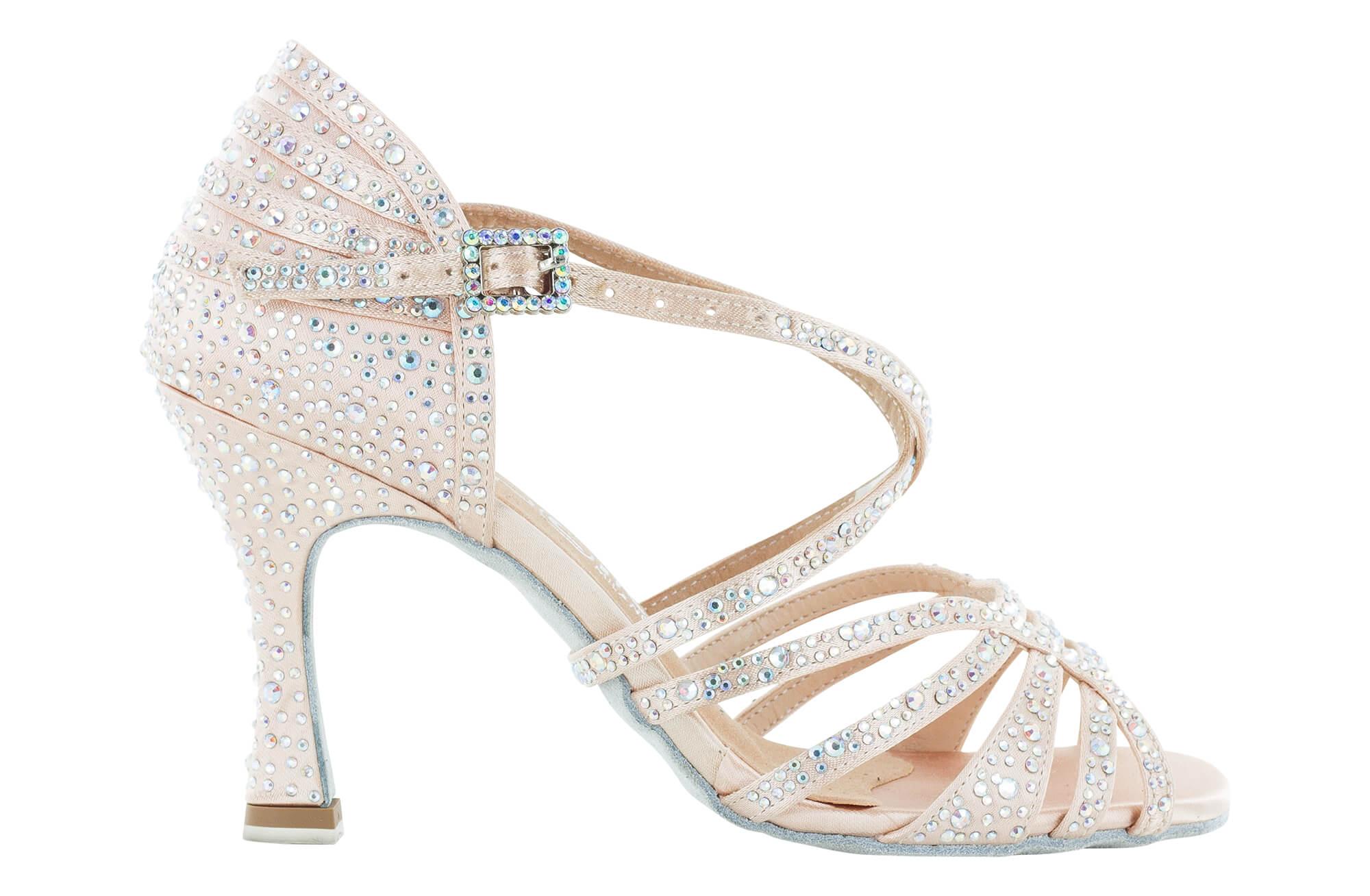 Zapato de baile Danc'in en Raso Rosa pálido con Tacón de 8cm