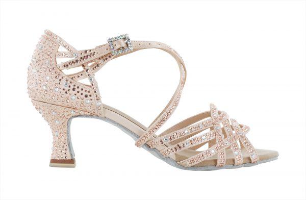 Zapato de baile Danc'in en Satén Rosa con Tacón de 5'5cm