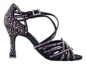 Zapato de baile Danc'in de Edición Limitada en Crystal Rosa con Tacón de 7'5cm