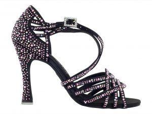 Zapato de baile Danc'in de Edición Limitada en Raso con Crystal Rosa de Tacón de 10cm