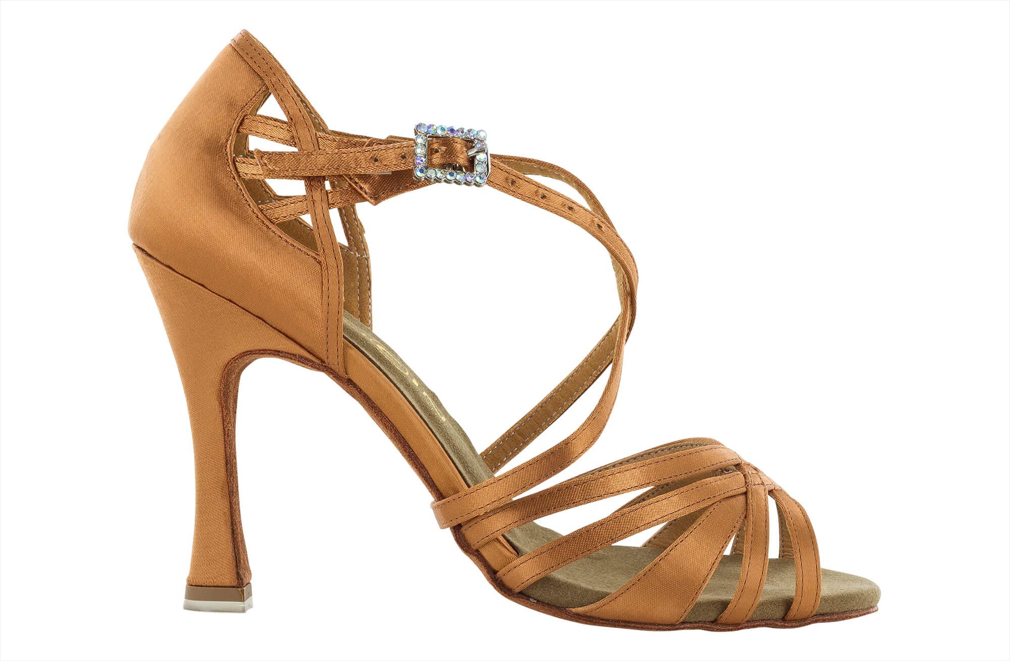 Zapato de baile Danc'in en Raso de tiras cruzadas con Tacón de 10cm