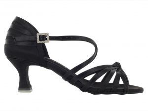 Zapato de baile Danc'in en Negro con Nudo de Tacón de 5'5cm