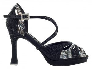 Zapato de baile Danc'in de Plataforma Negro con Tacón de 10cm