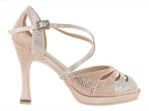 Zapato de baile Danc'in con Plataforma en Rosa de Tacón de 10cm