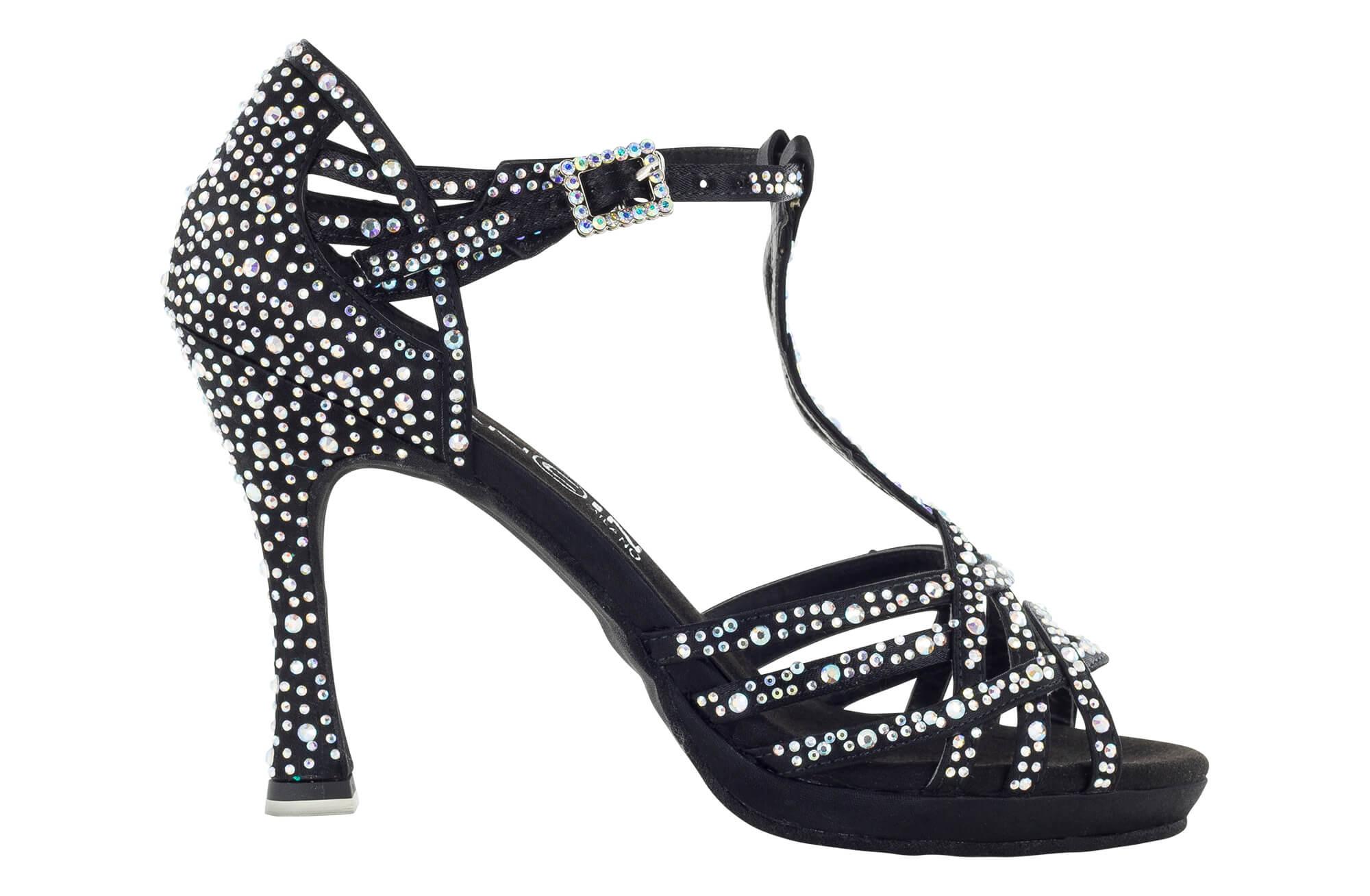 Zapato de baile Danc'in de Edición Limitada «Arianna Bazzini» de Plataforma en Negro con Tacón de 10cm