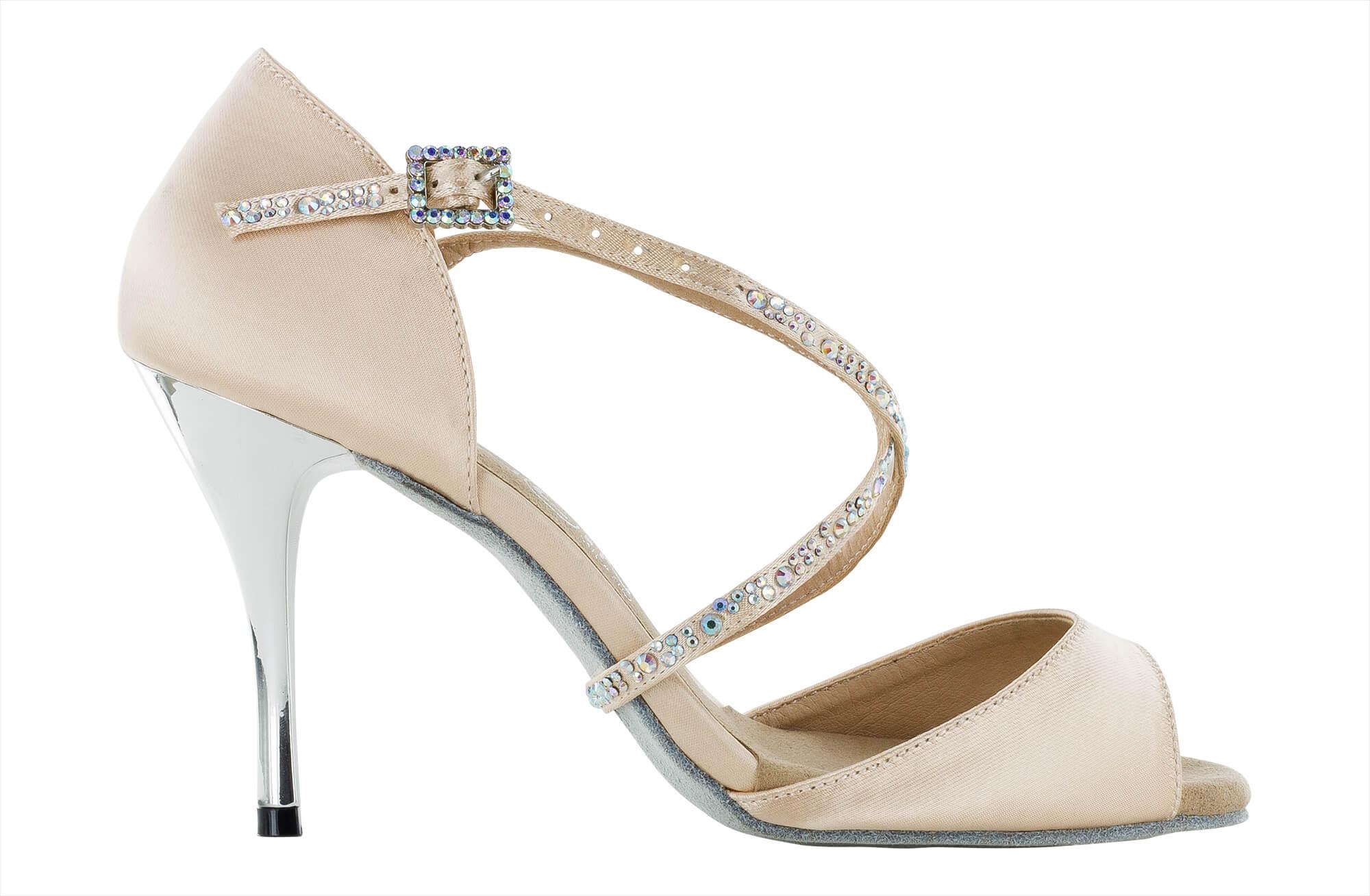 Zapatos de baile Danc'in en Raso Rosa conTacón de 9cm