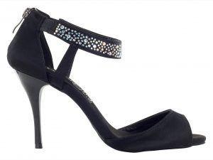 Zapatos de baile Danc'in en Raso Negro