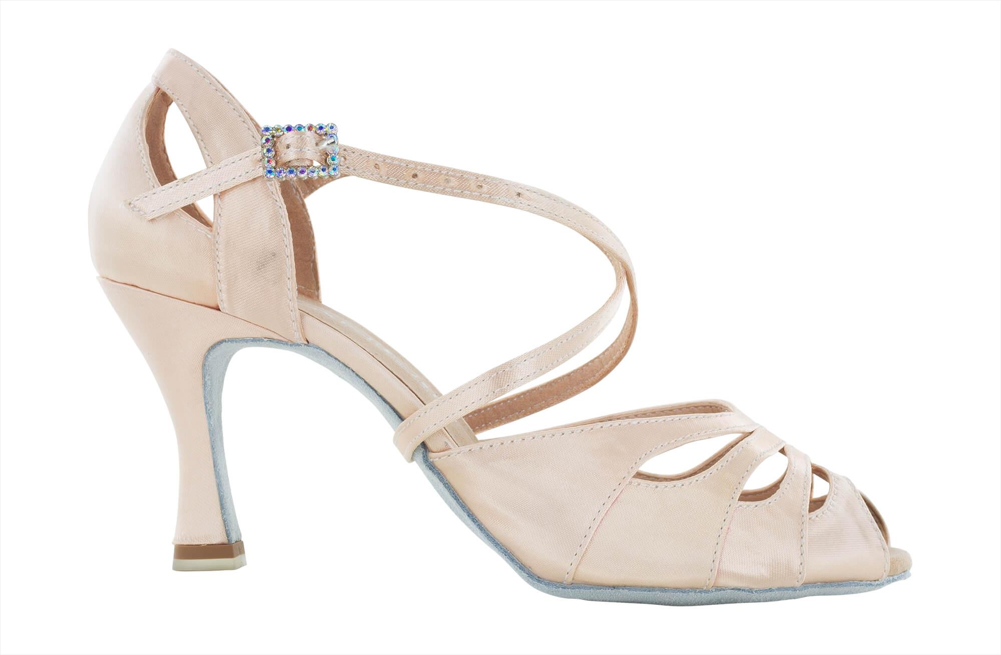Zapato de Baile Danc'in en Raso Rosa Pálido con tacón de 7'5cm