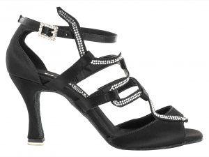 """Zapato de Baile Danc'in con motivo """"SNAKE"""" en Raso Negro con Tacón de 7.5cm"""