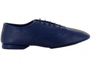 Zapato de baile Danc'in Jazz en Cuero Azul con Suela Superflex de DRS Vibram con Tacón de 1cm