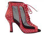Botín de baile Danc'in en Rojo con Tacón de 8'5cm DB10