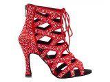 Botines de baile Danc'in en Rojo con tacón de 10cm DB11