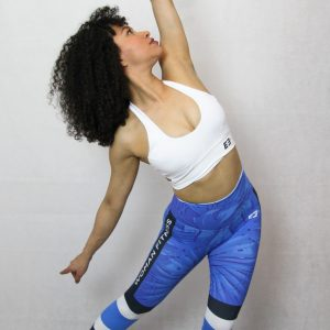 legging deportivo IDance, azul palmera