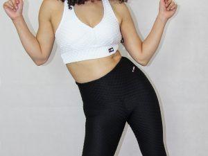 legging deportivo IDance, brocado negro