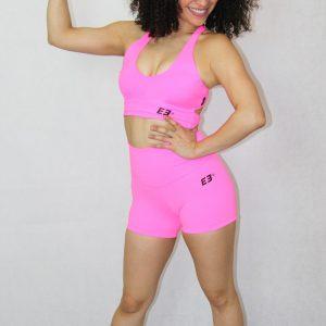 short deportivo IDance, rosa fluor