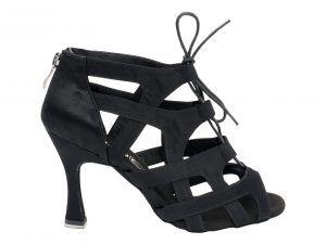 Zapato de baile, sandalia de baile, botin de baile, bota de baile, negro, tiras cruzadas en saten, cordón, cremallera, Danc'in, idance shoes, idance store
