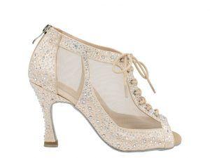 Botin de baile, zapatos de baile, bota de baile, sandalia de baile, Danc'in, idance shoes, idance store, rosa claro, rosa palo, red, cordon, cremallera