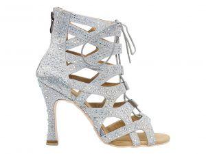 zapato de baile, sandalia de baile, botin de baile, bota de baile, Danc'in, idance shoes, idance store, blanco, Crystal Strass, cordón, cremallera